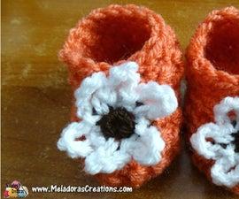Glover Stitch Newborn Baby Booties - Free Crochet Pattern and Tutorials