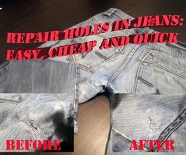 Holes in Jeans: Easy and Cheap Fix