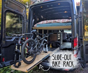 How to Build a Slide-out Bike Rack in a Camper Van Conversion