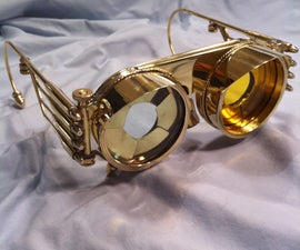 Steampunk Goggles Iris with interchangable lenses
