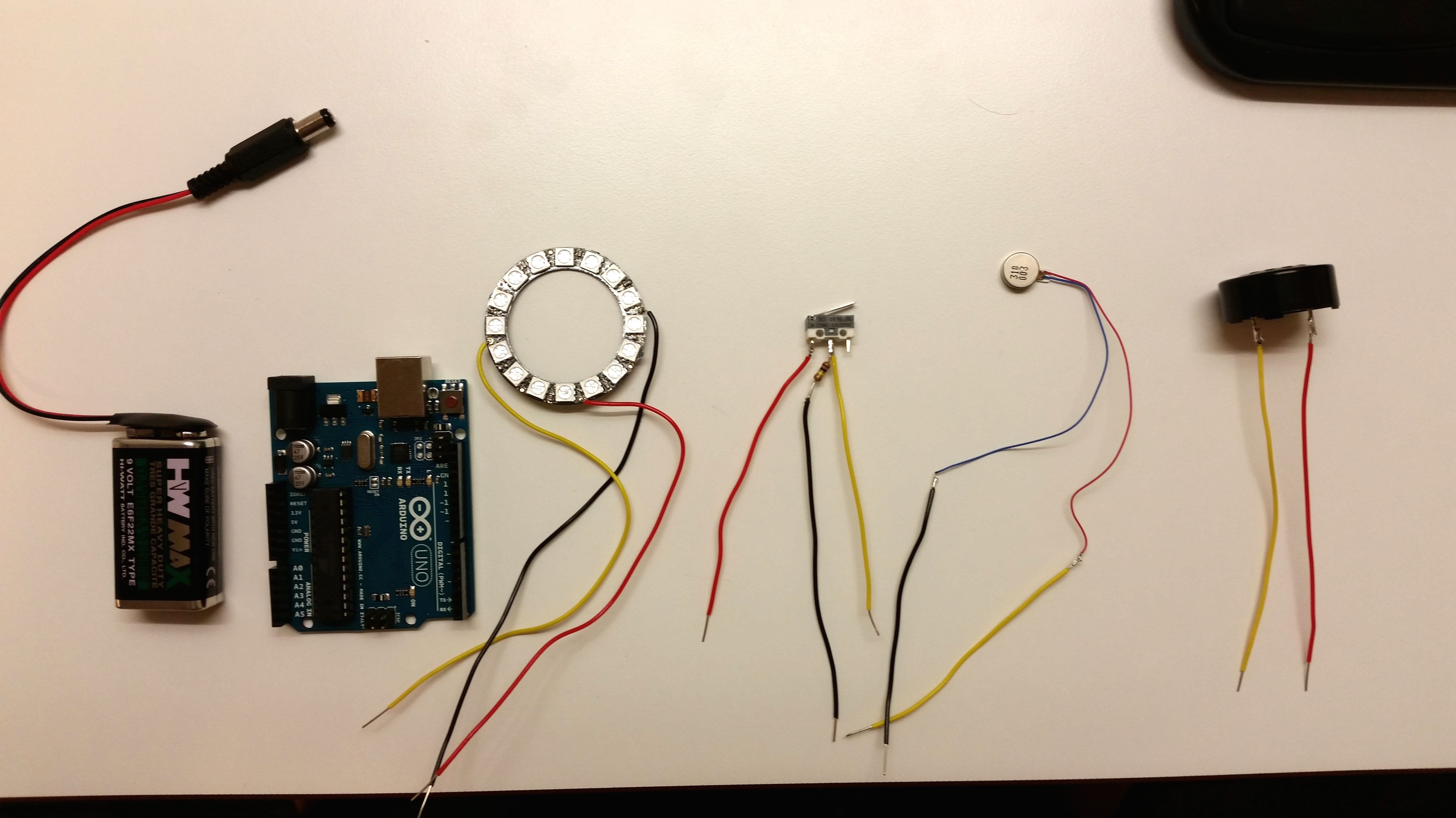 Picture of Arduino: Light, Sound, Vibration, Switch