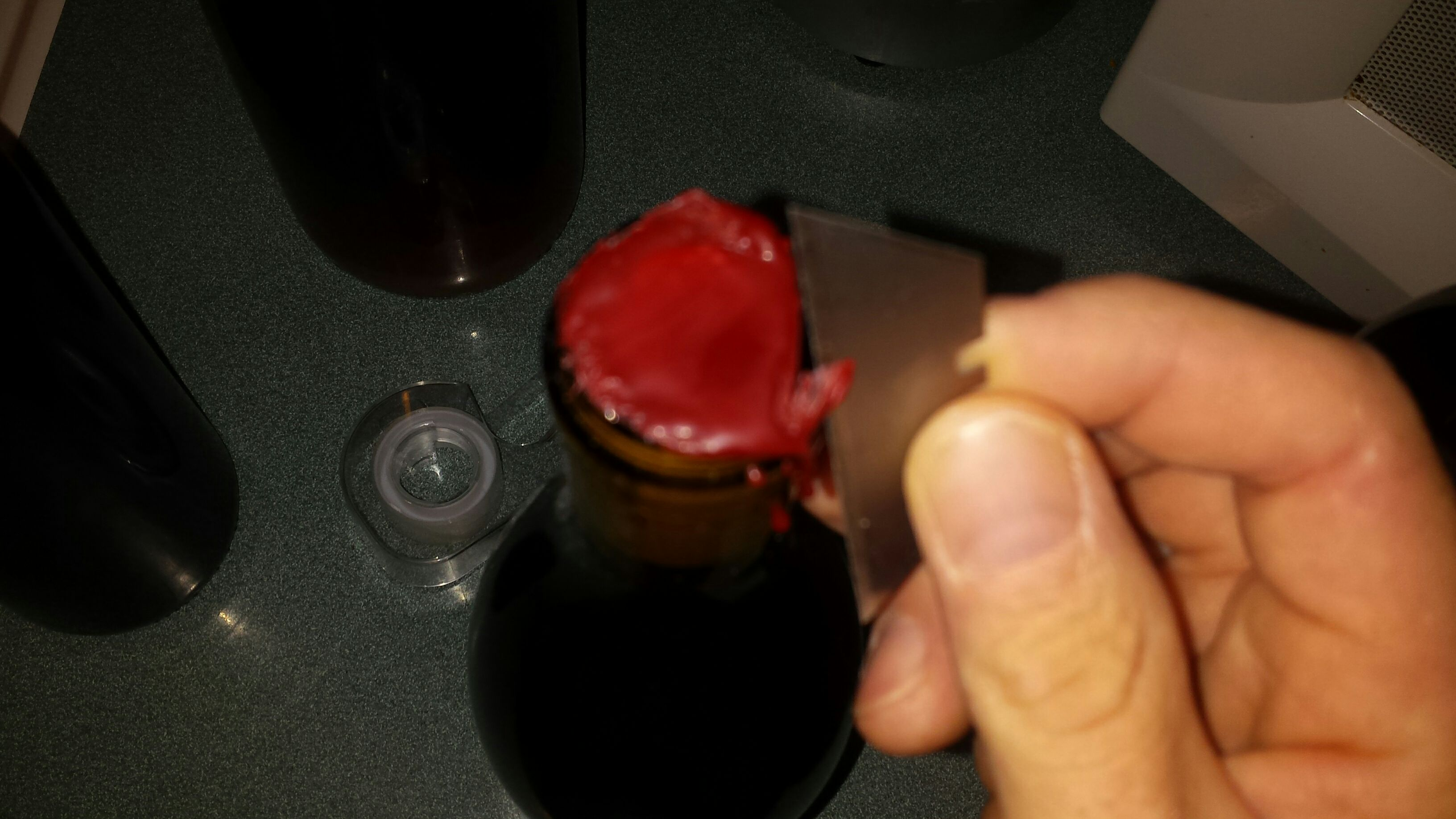 Picture of Waxing Wine Bottles