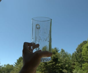 Etching Glass With a Sandblaster