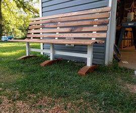 Trashed Park Bench