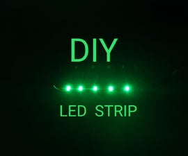 How to Make  Led Strip  (Copper Tape)