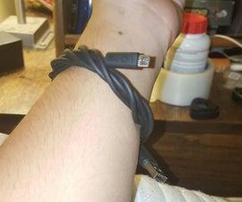 Phone-charger bracelet