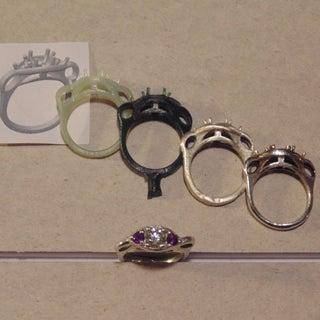Making a Three Stone Diamond Engagement Ring.
