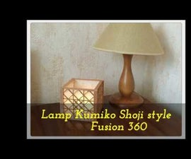 Lamp Kumiko Shoji Style. Fusion 360