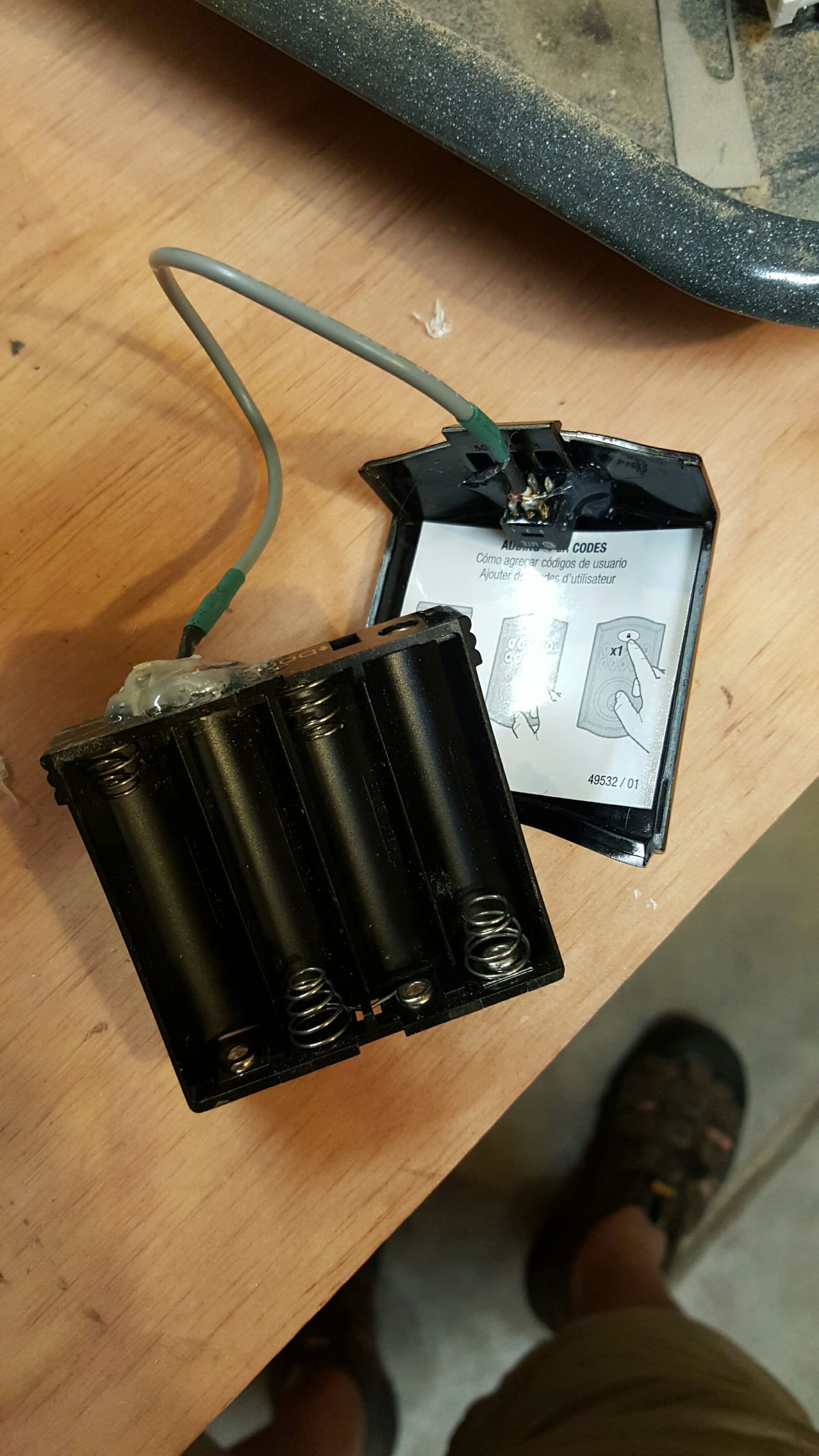 Picture of Solder a Switch to the Wires.