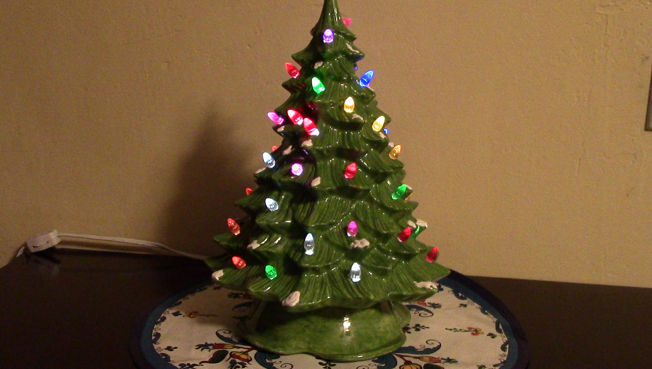 Picture of Ceramic Christmas Tree With Color-changing Lights