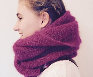 How to Knit a Fluffy Blanket Scarf