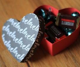 Paper Heart Shaped Gift Box
