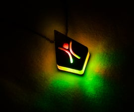 Glowing Laser Cut Pendant With Magnetic Battery Holder
