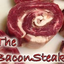The BaconSteak - Meat Glued Bacon Flank Steak Roulade