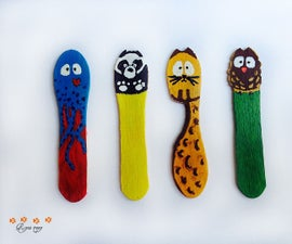 Five minute bookmarks from wooden ice cream sticks
