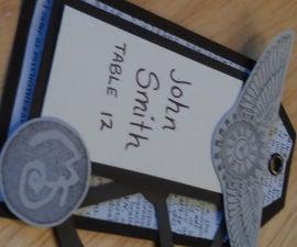 Steampunk Wedding Place Cards