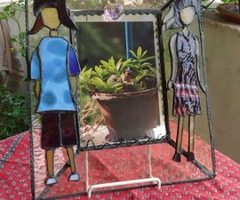 DIY Stained Glass Mirror-Photo Frame