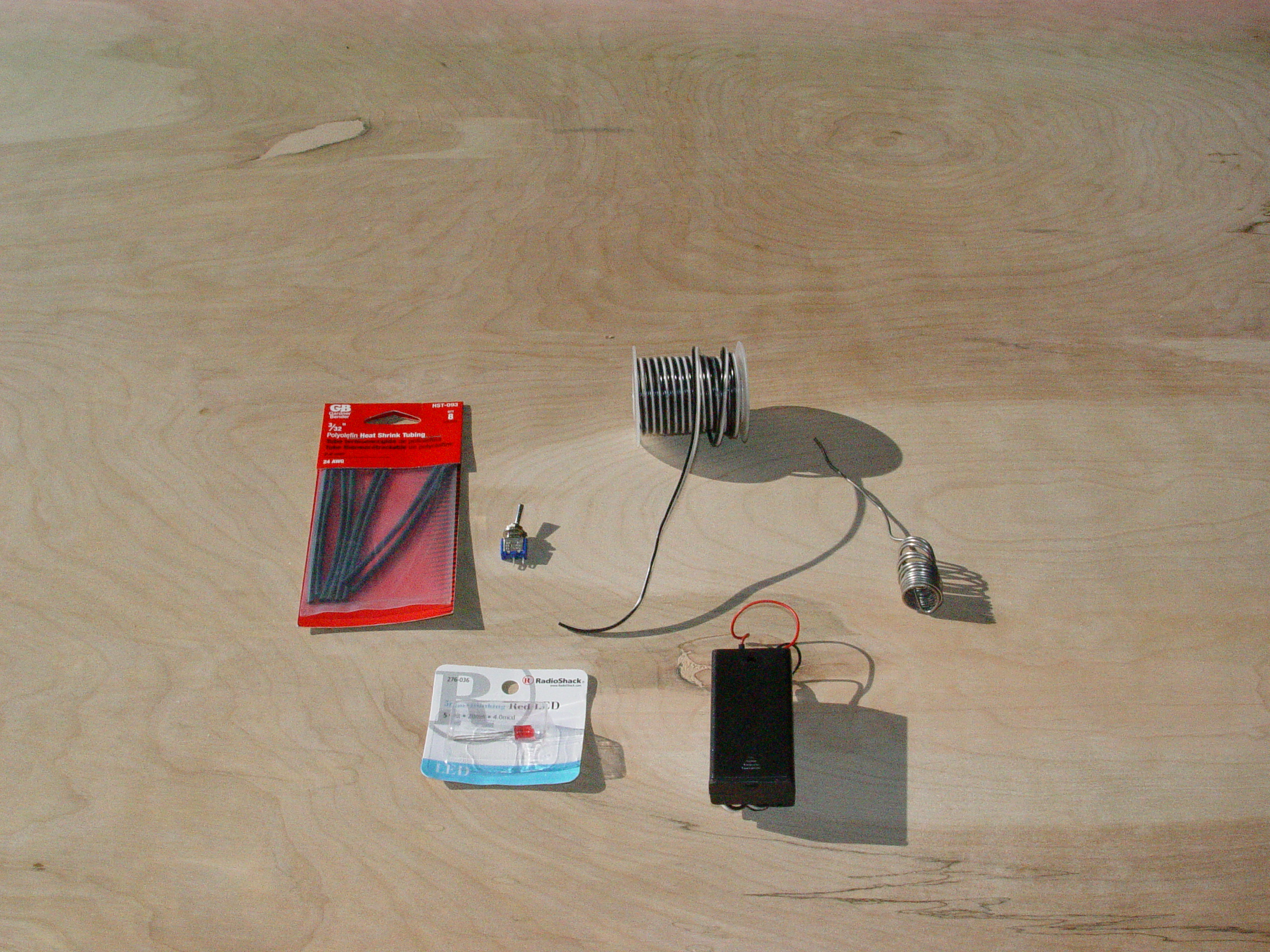 Picture of MATERIALS NEEDED FOR LIGHT UP LED EYEBALL OPTION