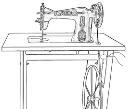 Human Powered Sewing Machine for Clean Electric Power Generation