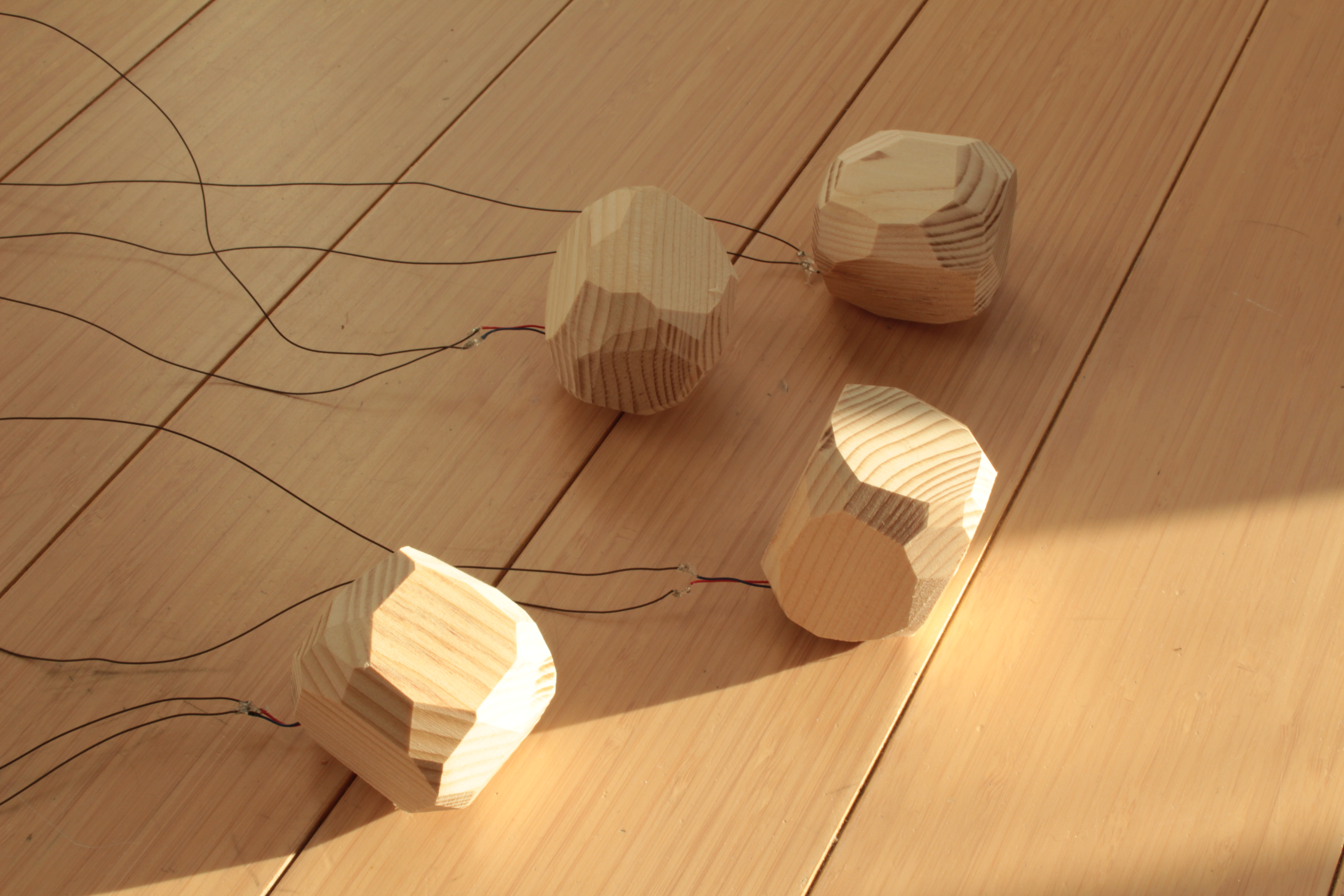 Picture of Wooden Stones Art Installation