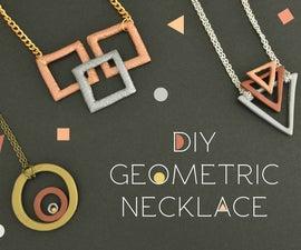 DIY Geometric Necklace