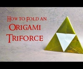 How to Fold an Origami Triforce From the Legend of Zelda