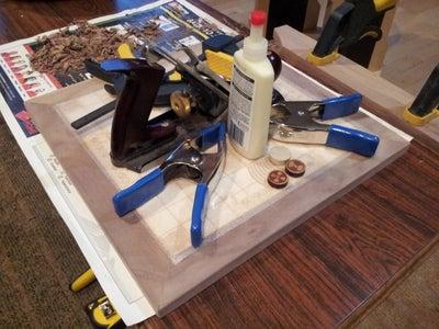 Glue the Cork Panel