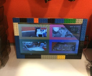 Lego Digital Photo Frame From Broken Tablet