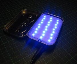 Blue LED Light Box in an Altoids(-like) Tin