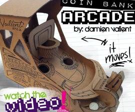 "Arcadem Cardboredem ""HOOPZ"" -Mini Basketball Arcade Coinbank"