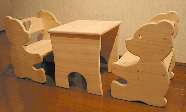 Picture of Bear Chair and Table Set for Kids
