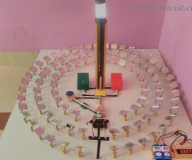 Make Mini Concentrated Solar Thermal Power Plant to Explain Working
