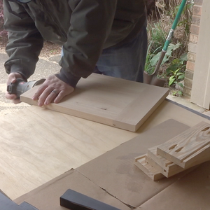 Drilling Pocket Holes and Sanding