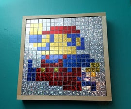 Rubik's Cube Pixel Art Wall Box