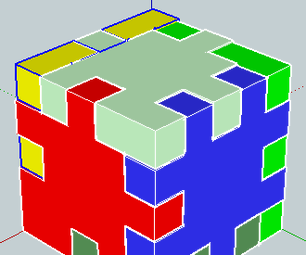 PUZZLE CUBE 3D With SketchUp 2013