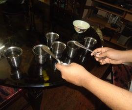 WATER+ STEEL CUP + STEEL SPOON = TUNE - a simple instrument