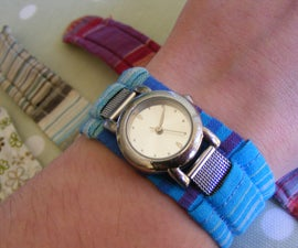 Fabric watch-strap cover