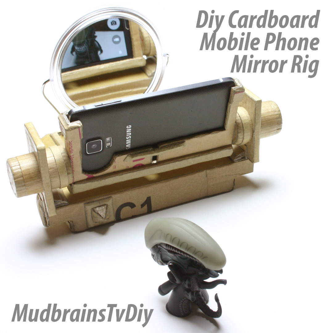 Picture of DIY Cardboard Ultimate Mobile Phone Mirror Stand