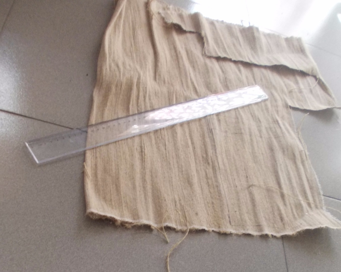 Picture of A Burlap Fabric Sheet