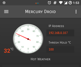 IoT Home Weather Monitoring System With Android Application Support (Mercury Droid)