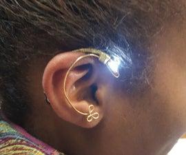 LightUP wire flower earring