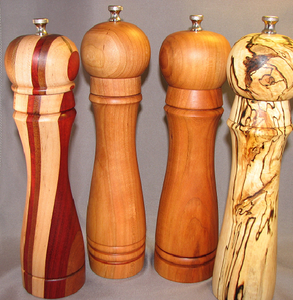 Turned Wood Peppermill