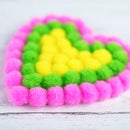 DIY Pom Pom Heart Coaster and a Mug