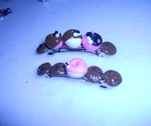 Mini Doughnut Hair Clip