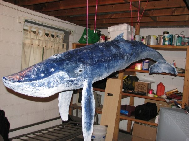 Picture of 6 Foot Paper Mache' Humpback Whale