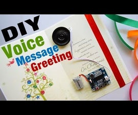 DIY Greeting Card That Speaks Your Recorded Voice Message ! Voice Greeting Card