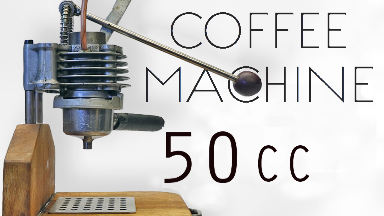 Picture of Italian Espresso Machine From Engine Parts • How to Make It