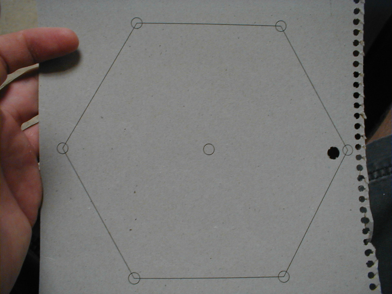 Picture of Drill Holes Through the Styrofoam