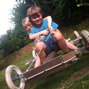 Build your own off road go-cart from two old bikes and some wood