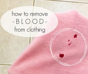 How to Remove Blood From Clothing